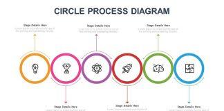 Circle Process Diagram Free PowerPoint Slide
