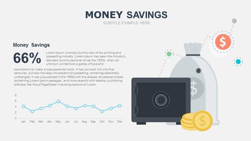 Money Savings Free PowerPoint Slide