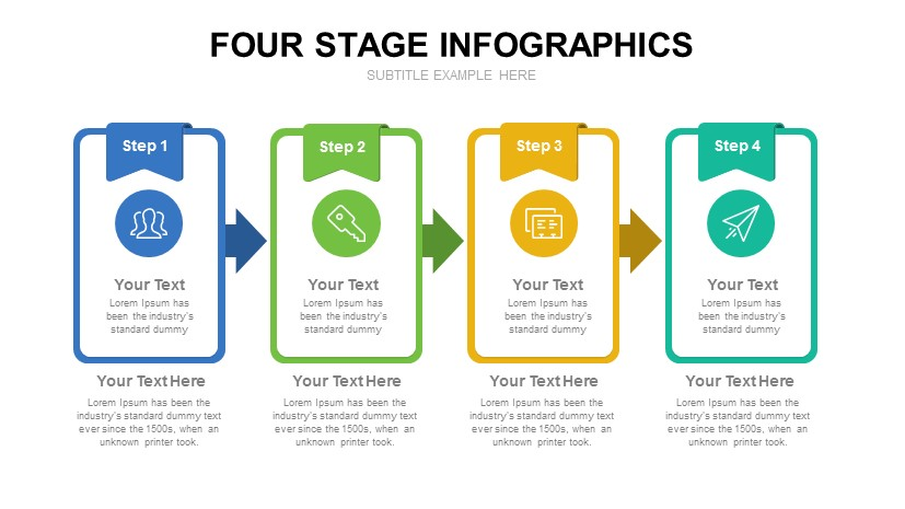 Four Stage Infographics Free Powerpoint Template Slidecompass