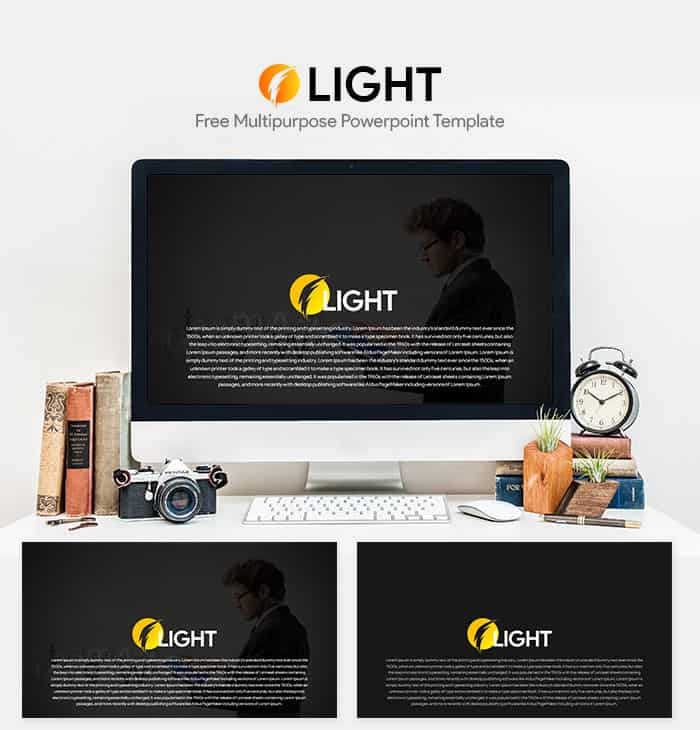 Light free multipurpose powerpoint template slidecompass light free multipurpose powerpoint template toneelgroepblik Image collections