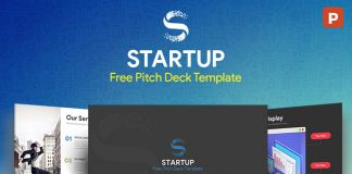 SlideCompass Free PowerPoint Keynote Templates - Awesome free pitch deck template scheme