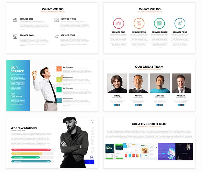 Unity Free Business PowerPoint Template